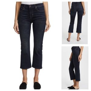 NWT Vince Cropped Flare Jeans Vintage Wash Size 25